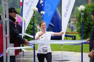 Schnellste Dame  über die einfache Runde: Claudia Wimmer aus St. Wolfgang, in 36.01,7
