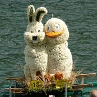Bootskorso Hase mit Ente